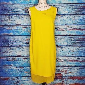 NWT DKNY Yellow Semi  Formal Dress Size 6